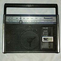 Panasonic Radio RF-537 AC or Battery FM/AM Vintage AM work. Parts or repair