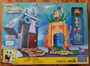Mega Bloks Spongebob Squarepants Bad Neighbors Set #38038 NEW VHTF MISB