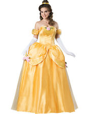 Classic Princess Belle Beauty And The Beast Yellow Gown Adult Costume