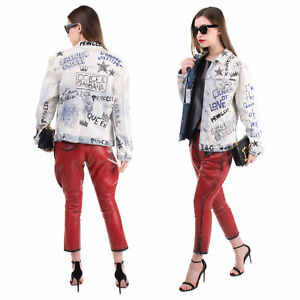 RRP €1945 DOLCE & GABBANA DENIM Jacket Size IT 44 / M Embroidered Bleached