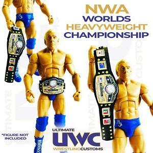 WWF NWA WWE Faux Leather NWA Worlds Heavyweight Title for Mattel/Jakks Figures