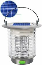 Solar Powered Mosquito Killer Lamp 1.2W LED Bug Zapper Lantern - Refurbished