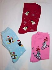 Winter Socks - Lot of 3 Pairs with Skating Theme