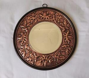 ANTIQUE COPPER ARTS & CRAFTS MIRROR ATTRIBUTED TO KESWICK POSSIBLY W H MAWSON