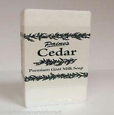 Paine's Cedar Premium Goat Milk Soap 4.5 oz bar fresh made in Maine all natural