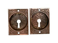 Aesthetic Pair of Pocket Door Pulls with Copper Plating
