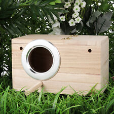 New listing Wooden Bird House Nest Parrot Nest House Bird Box Wooden Birdhouse Decor Home Us