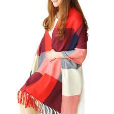 Écharpes et châles foulard rouge avec des motifs Cachemire pour femme