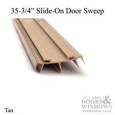 """Door Bottom / Sweep, for Pease Doors - Slide-On 35-3/4"""" Long - Tan"""
