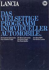 PROSPEKT LANCIA 1979 auto prospetto opuscolo auto gamma LIM Coupé BETA Spider HPE