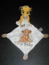 Doudou Simba Le Roi Lion Mouchoir Blanc Take Care I'M A Baby Disney Nicotoy TBE