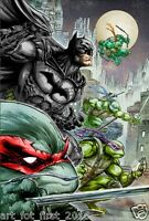 Oil Painting HD Print Wall Decor Art on Canvas Batman & TMNT 12x18inch Unframed
