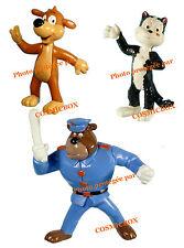 Lot de 3 figurines PIF le chien HERCULE le chat et l'agent de police FARFOUILLE