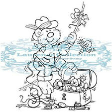 New Stampavie EXPLORER Clear Stamps Bear Critters Outdoors Fishing Dad Happy
