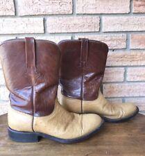 Lucchese Men's Boots Roper Vintage Men's Ostrich & Goat Leather Size 8
