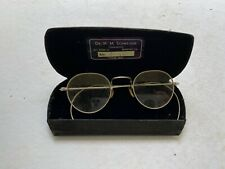 Vintage 1930's Dr. H M Schneider Ornate Silver Spectacle Optician Eye Glasses