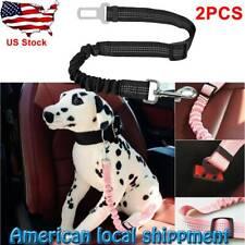 2X Pet dog cat safety seat belt adjustable vehicle pet harness lead strap belt