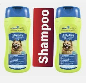 2 x FURminator deShedding Ultra Premium Shampoo For Dogs Set 251ml