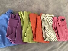 Ladies Stretch Cotton Button Up Career Shirts Size 12 Lot Of 6