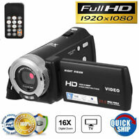 """3"""" LCD 1080P 20MP 16X Zoom Digital Camcorder Video DV Camera with Remote Control"""
