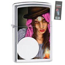 Zippo 28656 fortune teller high polish chrome full size Lighter + FLINT PACK