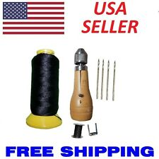 Swift Sewing Awl Leather Canvas Repair Stitcher Kit 4 Needles 180 yards Thread