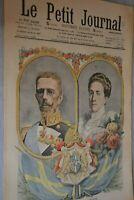 Gustave V et Victoria / Le Petit Journal sup illustré N°940 / 22 novembre 1908