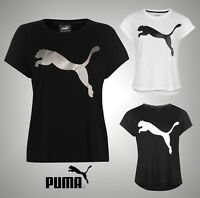 Ladies Genuine Puma Relaxed Cropped Sleeves Urban Sports T Shirt Top Size 8-16