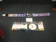 space age swatch wall clock swiss maxi duscobolus large loft design