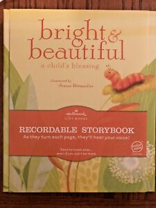 """Hallmark """"Bright & Beautiful a child's blessing"""" Recordable Book"""