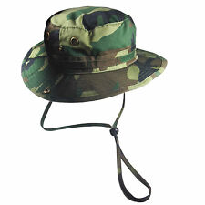 Army Hat Green Camouflage Cadet Jungle Bucket Cap Hat Army Military 1sz Ft