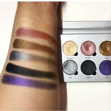 Okalan Liquid Metal Eyeshadow Cream Palette Shimmer Makeup Set Eyes 6 Colors
