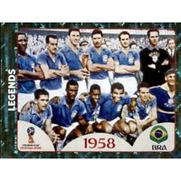Panini WM 2018 672 Legends Brasilien Brazil 1958 World Cup WC 18 Wappen Foil