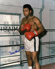 MUHAMMAD ALI Signed Autographed COLOR PHOTO 8X10 IN PERSON W/PROOF RARE!!!!!!!!