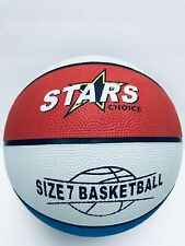Red White & Blue Size 7 Basketballs Stars Choice indoor& outdoor Inflated