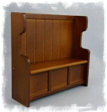 1/12th Scala Casa delle Bambole Miniatura Quercia decantare o PEW sedile di sollevamento