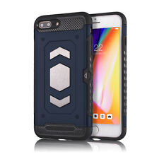 For iPhone 7 8 Plus Case Cover Card Slot Magnetic Rugged Shockproof Heavy Duty