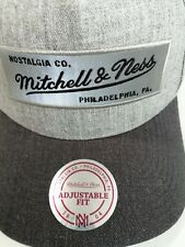 Mitchell & Ness Grey Cap Embroidered Logo, Nostalgia. Co, Philadelphia PA, NEW