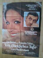 Filmplakat - Ein glückliches Jahr ( Lino Ventura , Francoise Fabian )