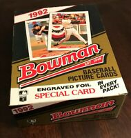 1992 Bowman Baseball Unopened Box - 36 Packs - Possible Rivera, Piazza, Pedro