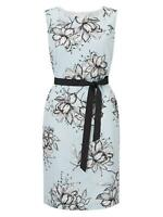 Precis Petite Peony Jacquard Dress Ladies Floral Design Blue Size 8 *REF75