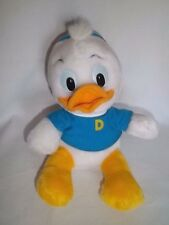 "Vintage DISNEY WORLD 10"" Plush DEWEY DUCK TALES Stuffed Animal Toy Ducktales"
