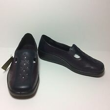 NWT Hotter Calypso Purple and Navy Loafer Shoes Size 5 US 3 UK