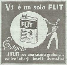 W7041 Vi è un solo FLIT... - Pubblicità del 1933 - Vintage advertising