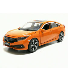 Honda Civic 1:32 Scale Model Car Diecast Gift Toy Vehicle Collection Kids Orange