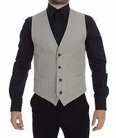 NWT $400 DOLCE & GABBANA Beige Silk Blend Dress Formal Vest Gilet IT46 / US36 /S