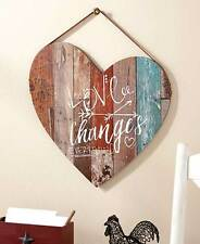 WOODEN PALLET LOVE CHANGES EVERYTHING RUSTIC HEART ACCENT WALL SIGN PLAQUE DECOR