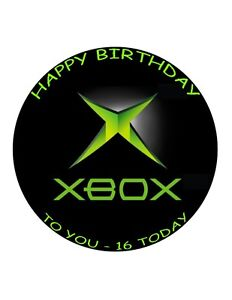 """7.5"""" 19cm XBOX PERSONALISED WAFER/FONDANT PAPER CAKE TOPPER"""
