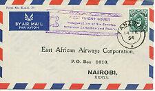 2049 ZANZIBAR 1954 First Flight East African Airways ZANZIBAR - NAIROBI, Kenia