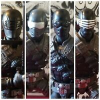 4 UnPainted G.I. Joe Snake-Eyes head Cast Legends/ Mezco/ Classified scale